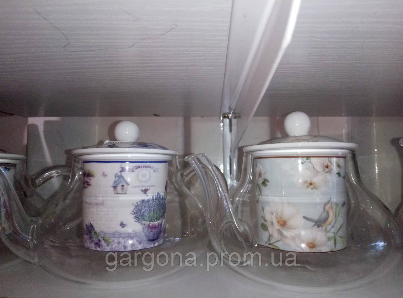 Чайник стеклянный Классика с металлическим ситом и крышкой, 1000 ...   949x1280