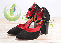 Туфли замшевые женские Artsakh .Арт 953 ч/з 37-40 размеры, фото 1