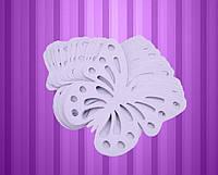 Декор бумажные бабочки (уп. 24шт) сиреневый