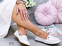Жіночі туфлі мокасини шкіра, фото 1