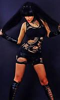 Черное платье мини - туника Greenice, микрофибра, размеры 42 - 50. оптом и в розницу.