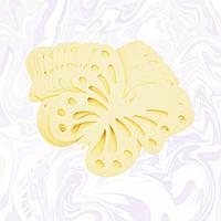 Декор бумажные бабочки (уп. 24шт) шампань