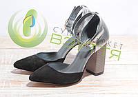 Туфли замшевые женские Artsakh .Арт 953 сер/з 36 размеры, фото 1