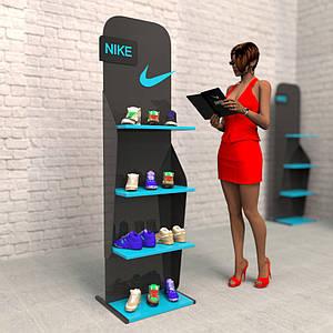 Рекламные стойки NIKE в магазин
