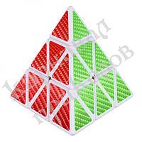 Кубик Рубика Пирамидка белая карбон, фото 1