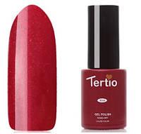 Гель-лак Tertio №87 красный с золотыми микроблестками 10 мл