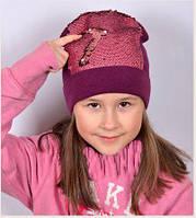 Шапка пайетки для девочки, фото 1