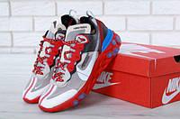 """Кроссовки мужские UNDERCOVER x Nike Upcoming React Element 87 """"Серые с красным"""" р. 41-43, фото 1"""