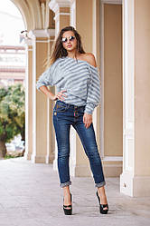 Модные джинсы с подворотом