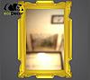 Зеркало настенное Alexandria в золотой раме, фото 2