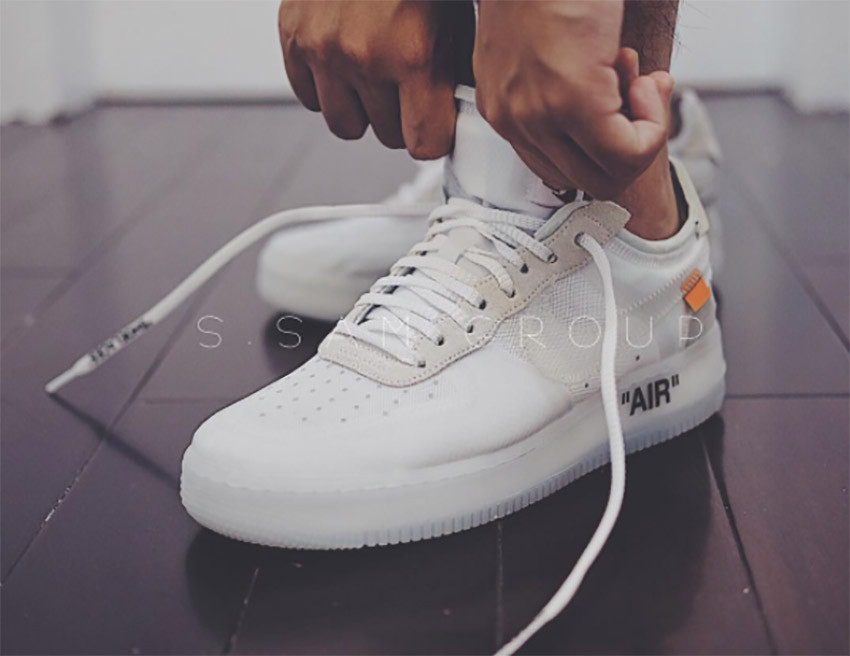 c1ca7ebd Кроссовки мужские Nike x Off-White Air Force 1 Low Ice