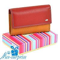 Кожаный женский кошелёк Dr.Bond WRS-13M red (серия Rainbow), фото 1
