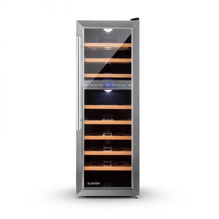 Винный холодильник Klarstein 10028537 Reserva 27D Weinkühlschrank Шкаф холодильный для вина 76 л УЦЕНКА