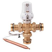 """Смесительный трехходовой клапан 1"""" с погружным датчиком (60-90°С) """"Icma"""" №324"""