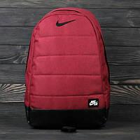 Рюкзак, портфель, сумка, ранец Nike Air (Найк Аир) Спорт сумка. Меланж! Бордовый