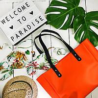 Большая вместительная женская сумка Phibie, цвет морковный