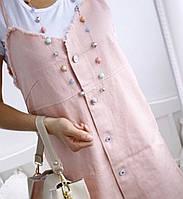 Женское летнее платье-сарафан двойка с  футболкой. РАСПРОДАЖА