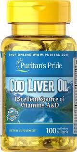 Масло печени трески Puritan's Pride Cod Liver Oil 415 mg100 Softgels, фото 2