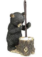 Дизайнерский держатель для ёршика Мишка полистоун 40 см