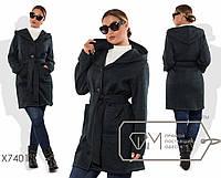 Кардиган-пальто из трикотажа меланж. Большие размеры, батал. Разные цвета.