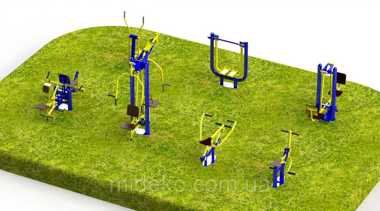 Спортивная площадка с уличными тренажерами 5340