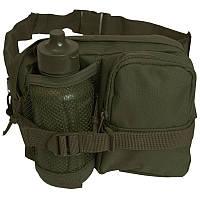 Поясная сумка с флягой Mil-Tec 13511001 цвет олива, фото 1