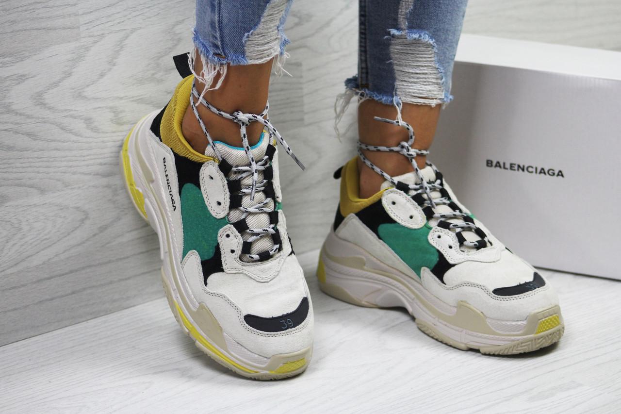 07f1e6c6b4d0 Кроссовки женские в стиле Balenciaga Triple код товара SD1-6042.  Бежево-черные
