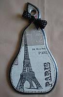 """Деревянная разделочная мини-доска ручной работы для кухни """"Париж"""""""