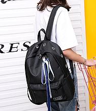 Рюкзак  черный с лентами