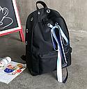 Рюкзак  черный с лентами, фото 2