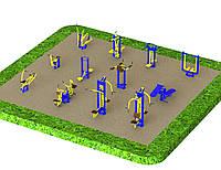 Спортивная площадка с уличными тренажерами 1250, фото 1