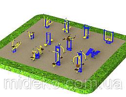 Спортивная площадка с уличными тренажерами 1250