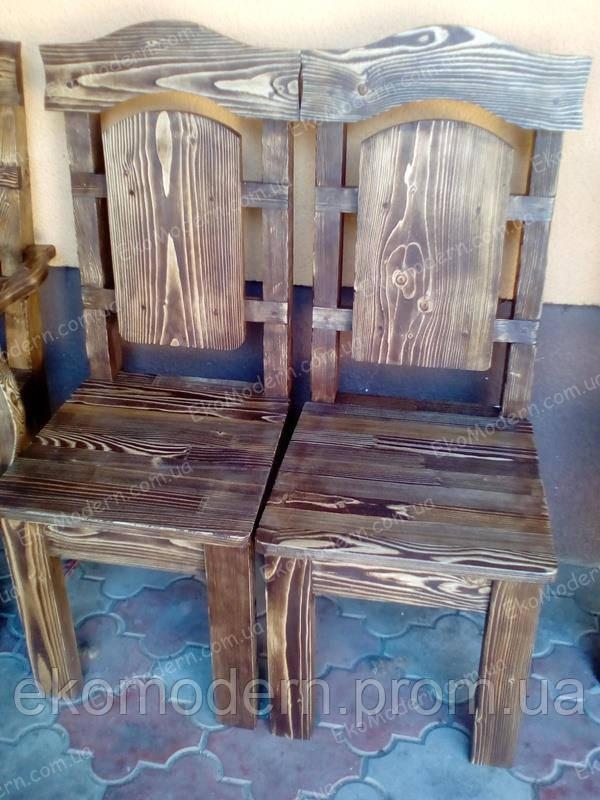 Стул деревянный под старину ВИКОНТ-Т с твердым сидением