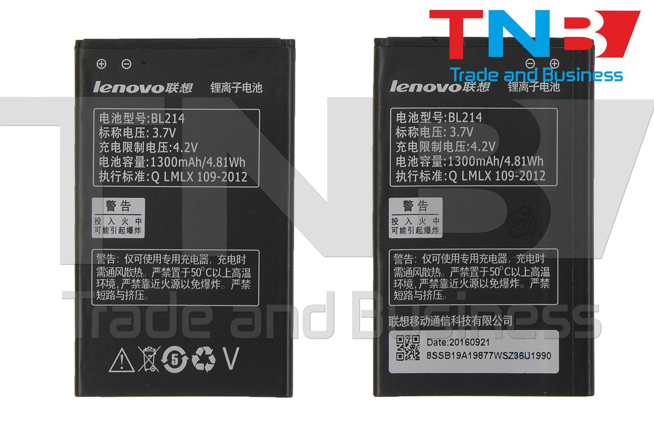 Батарея LENOVO BL214 LENOVO A208T, A218T, A238T, A269, A269i, A300T, A316 Li-ion 3.7V 1300mAh ОРИГІНАЛ