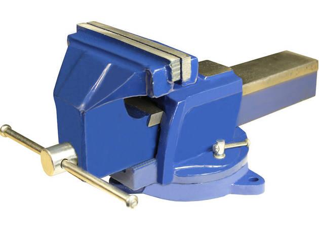 Тиски слесарные поворотные синие 125 мм MIOL 36-300, фото 2