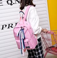Рюкзак  розовый с лентами