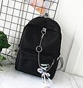 Рюкзак с лентами и цепью черный, фото 3