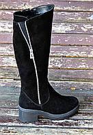Женские замшевые сапоги, фото 1