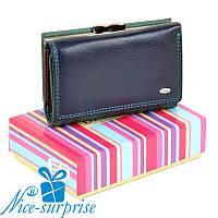 b535e176861b Кожаный женский кошелёк Dr.Bond WRS-11 blue (серия Rainbow)