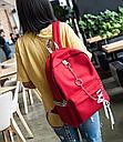 Рюкзак с лентами и цепью красный, фото 2