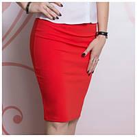 Копия  Трикотажная юбка-карандаш, красная, EVRO (Турция) , фото 1