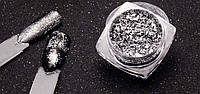 Хлопья Юкки для ногтей Серебро