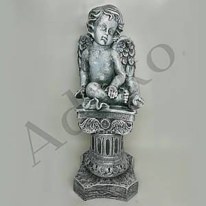 Садово-парковая фигура Ангел на колонне 41 см