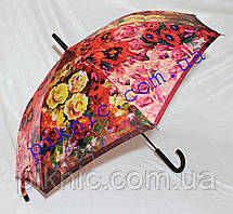 Женский зонт трость полуавтомат. Зонт от дождя, фото 3