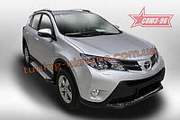 Пороги алюминиевый профиль Союз 96 на Toyota Rav4 2013-2015 (эксклюзив TMR)