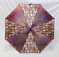 Жіноча парасолька тростина напівавтомат. Парасоля від дощу 102-17-3