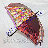 Женский зонт трость полуавтомат Зонт от дождя 102-17-3