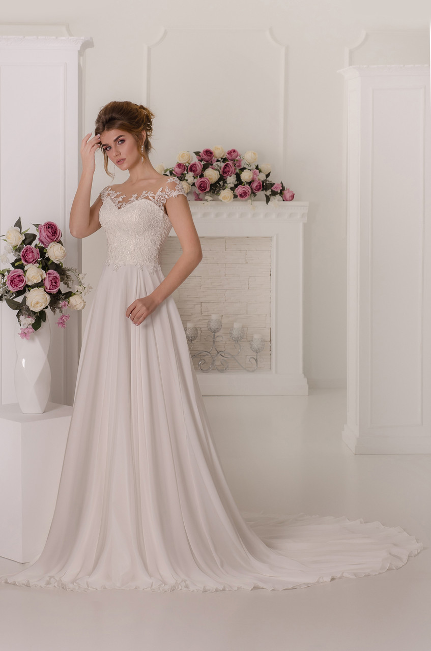Свадебное платье Amour Bridal 44 р молочный,  Ампир