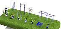 Спортивная площадка с уличными тренажерами 7900, фото 1