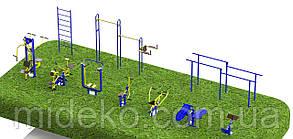 Спортивная площадка с уличными тренажерами 7900